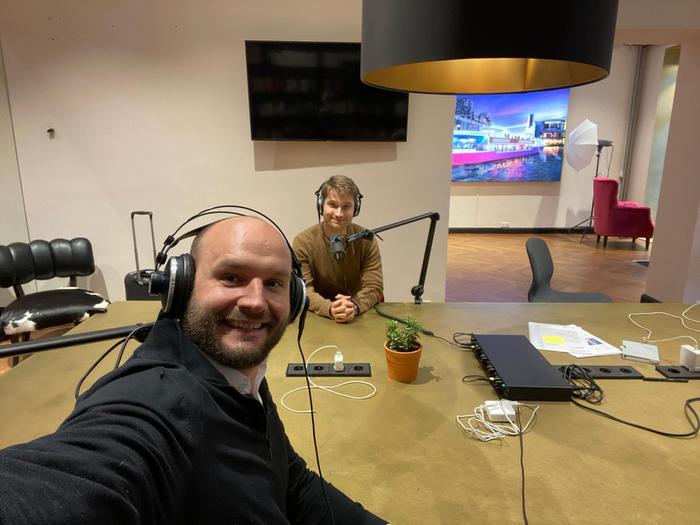 Christian Miele mit Johannes Reck